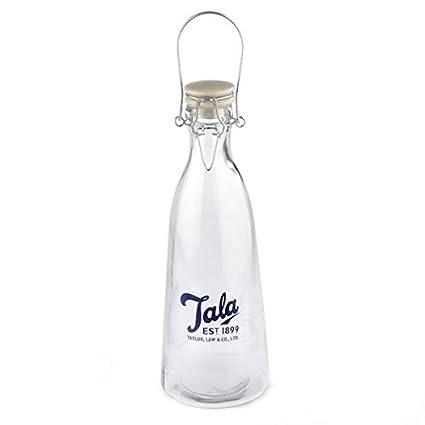 Botella de vidrio vintage 1 litro Tala - azul