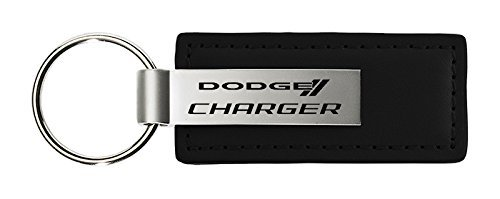 (Dodge Charger Black Leather Key Chain)