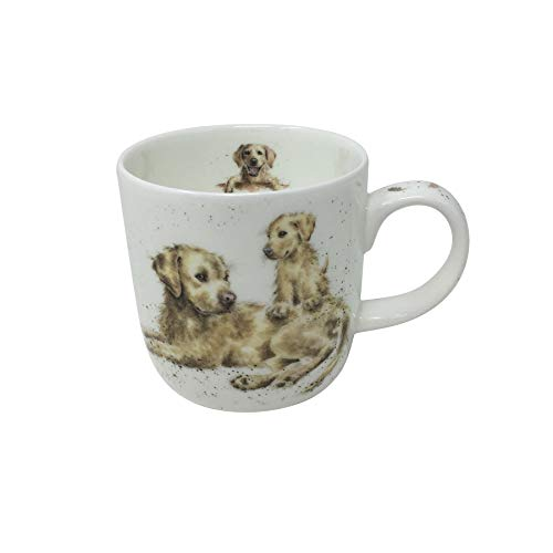 BOXED WRENDALE OFFICIAL LICENSED GOLDEN RETRIEVER PUPPY DOG FINE PORCELAIN CHINA MUG CUP