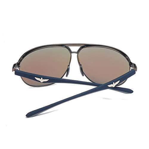 Blue polarización Gold Frame Green Lente la Sol de Hombres Gun de Ligera Lens Lente Sakuldes los de Frame Ultravioleta del Ultravioleta Marco metálico de 400 de Color Lens de Gafas Aluminio Aluminio qS4OAwx0