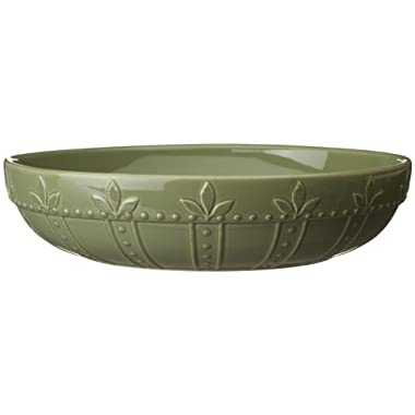 Signature Housewares Sorrento Collection 12-Inch Large Pasta Bowl, Green Antiqued Finish