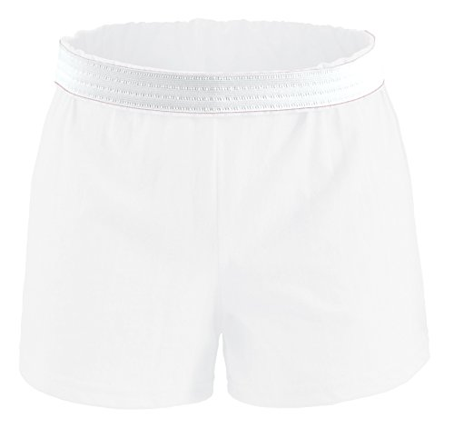 (Soffe Youth Girls' Authentic Soffe Shorts, White, Large)