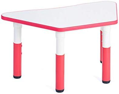 多機能 ブロックテーブル 子供 学習机 セット勉強机子供用 デスク キッズポリゴンプラスチック表は、男の子と女の子の庭や内部表に関しては、台形小さなテーブル学習テーブルデスク玩具テーブルを持ち上げ 文房具収納 多機能 安心安全設計 子供部屋 (Color : Style6, Size : Free size)