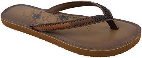 Panama Jack Womens Sandal,Premium Flip Flop Sandal with Memory Foam,Tan Brown,Women's Size 6 to 7