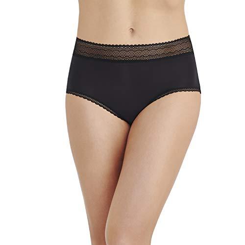 Seam Full Coverage - Vanity Fair Women's Flattering Lace Brief Panty 13281, Black, X-Large/8