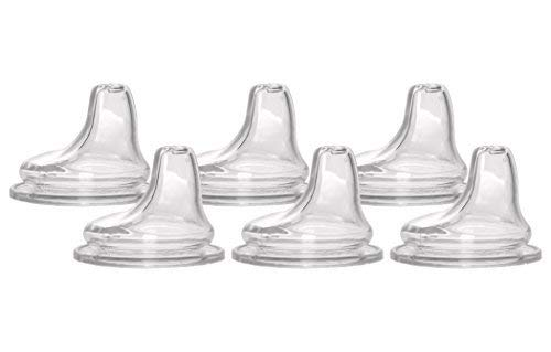 6 Packs of NUK Replacement Silicone Spout, Clear by NUK