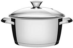 Tramontina 65650106 Allegra Ensemble de 5 casseroles en acier inoxydable avec 4 casseroles et 1 casserole à manche en acier 18/10