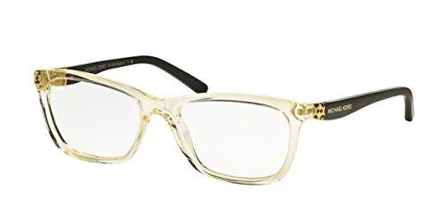 Michael Kors MK4026F Eyeglass Frames 3086-53 - Champagne/black - Womens Kors Frames Michael