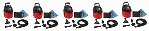 Shop-Vac 2030100 1.5-Gallon 2.0 Peak HP Wet Dry Vacuum, Small, Red/Black (5-(Pack))