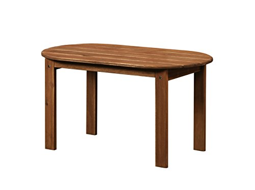 Linon 20154T36-01-KD-U Coffee Table, Teak (Table Adirondack Coffee)