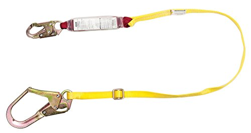 (MSA 10088260 Sure-Stop Web Energy-Absorbing Lanyard with 36C Harness Connection and 36CL Anchorage Connection, Adjustable Single-Leg, 6' Length)
