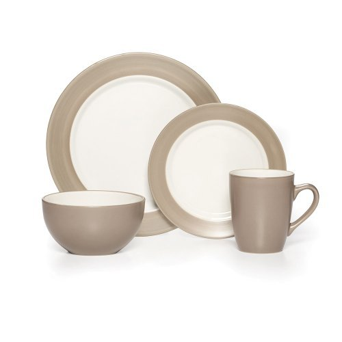 Pfaltzgraff Everyday Harmony Taupe 16-Piece Dinnerware Set, Service for 4 by Pfaltzgraff Everyday by Pfaltzgraff Everyday