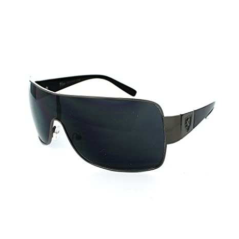 Buy (6 Pack) KHAN Sunglasses Shield KN3310 - Black Online at Low Prices in  India - Amazon.in ba01ac8817