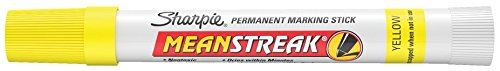 Sharpie Mean Streak Permanent Marking Stick, Bullet Tip, Yellow (Pack of 12) by Yellow (Image #2)