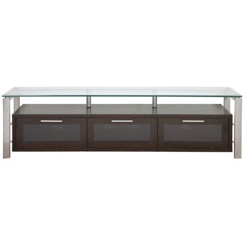 (Plateau DECOR 71 (E)-S Wood and Glass TV Stand Espresso)