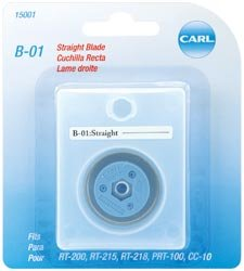 Bulk Buy: Carl Brands Professional Rotary Trimmer Replacement Blade Straight B-01 (2-Pack) (Rotary Blade Replacement Trimmer Professional)