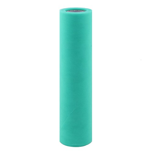 uxcell Gift Packing Wrapping Sewing DIY Decor Voile Tulle Spool Roll 12 Inch x 25 Yards Green