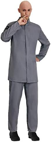Adult Deluxe Grey Suit Costume Evil Man Suit Outfit 13