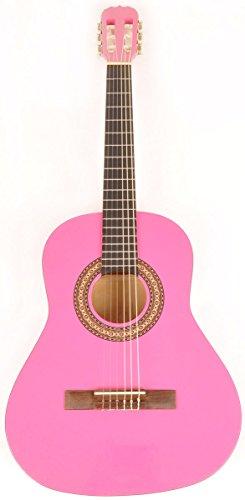 [해외]오메가 클래스 키트 3 4 MPN 핑크 왼손잡이 3 4 크기 어쿠스틱 기타 w 무료 캐리 백/Omega Class Kit 3 4 MPN Pink Left Handed 3 4 Size Acoustic Guitar w Free Carry Bag