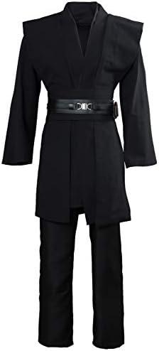 Hot Star Wars Anakin Skywalker Cosplay Costume Black Suit Custom Unisex Size