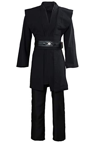 Tunic Costume Mens Tunic Hooded Robe Full Set Halloween Cosplay Costume (Large, Black(Tunic)) - http://coolthings.us