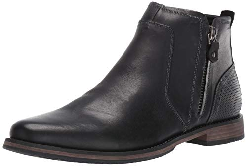 Steve Madden Men's Palma Chelsea Boot, Black Leather, 10.5 M US