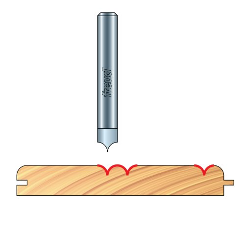 Freud 20-301 Radius V-Groove Router Bit for Freud's 99-472 B