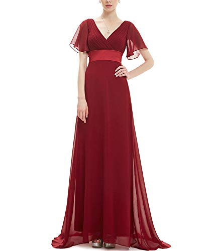 - Evening Dresses Long Women Gown Chiffon Summer Style Special Occasion Dresses,Burgundy,12