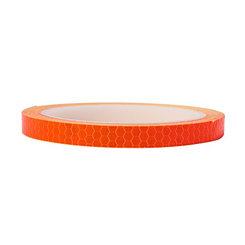 - ATMOMO Orange Car Reflective Safety Warning Conspicuity Tape Strip Sticker DIY Sticker Film Roll for Car Truck Bicycle 1CMx8M