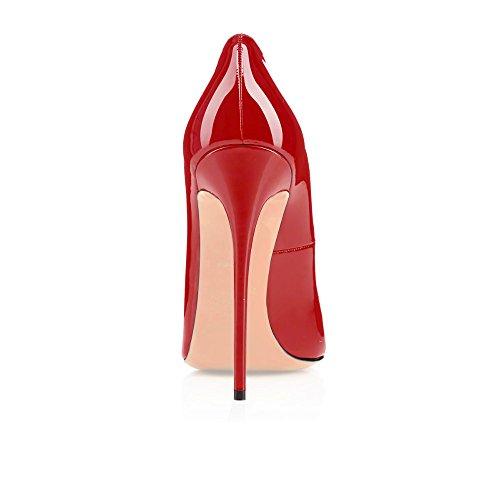 Rouge Bout Délicats Chaussures Edefs Bureau Artisan Travail Classiques De Talon Ronds Fashion 120mm Aiguille Escarpins Femmes À Lady 01pTqAw