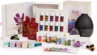 Young Living Premium Starter kit with Dewdrop Home Rainstone Aria Diffuser Essential Oils Collection NingXia Red 11 5ml Oils (Rainstone Diffuser) by Young Living