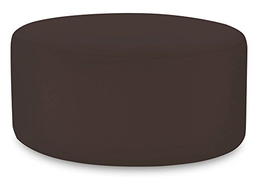 Starboard Chocolate - Howard Elliott QC132-898 Replacement Cover for Universal Round Ottoman, Starboard Chocolate