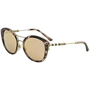 Burberry Women's 0BE4251Q Pink Havana/Brown Mirror Rose Gold One Size
