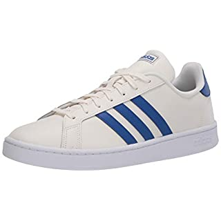 adidas mens Grand Court Sneaker, Cloud White/Team Royal Blue/Ftwr White, 5.5 US