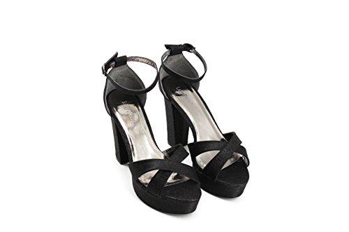 Negro Tacón Mujer Sandalia Plataforma Modelisa 4AnSF64