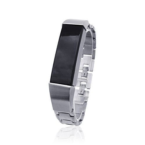 fitjewels for Fitbit Alta HR No Tracker Fitbit Alta Replacement Band Stainless Steel- Black Jewelry for Fitbit Alta Fitbit Alta Band Fitbit Alta Accessories Bracelet SOSO