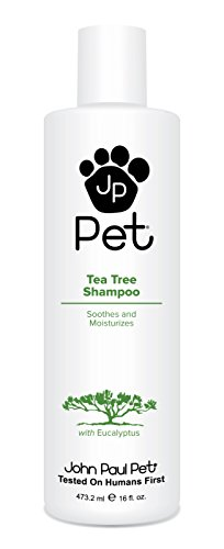 John Paul Pet JPS5484 Australian Tea Tree and Eucalyptus Oil Shampoo for Dogs and Cats, Cleanses Moisturizes and Soothes Skin Irritations, 16-Ounce
