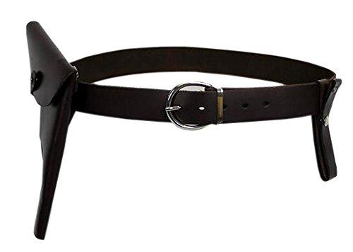Indiana Cowhide Belt Jones Holster Whip Holder Leather (Indiana Belt)