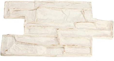 ウォークメーカー ストーン装飾コンクリート金型セメント再利用可能なレンガモールドインプリントテクスチャスタンプマット (色 : 白, サイズ : ワンサイズ)