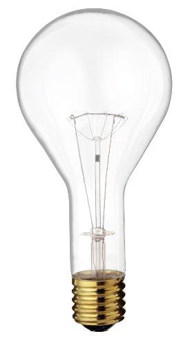 Satco S4961 130V 300 Watt PS35 Mogul Base Light Bulb, Clear Clear Mogul Screw Base