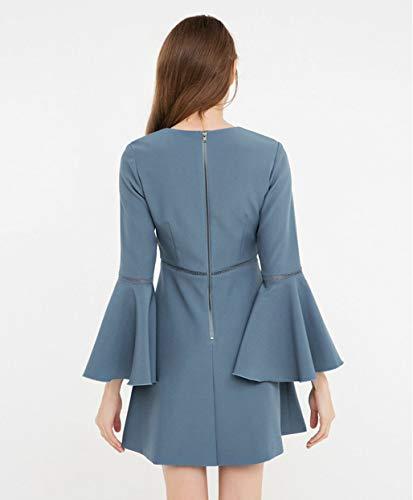 Mujer Cóctel Cualquier Para Vestidos Fiesta Azul Fino Ocasión Vestido De Novia 5YY4U