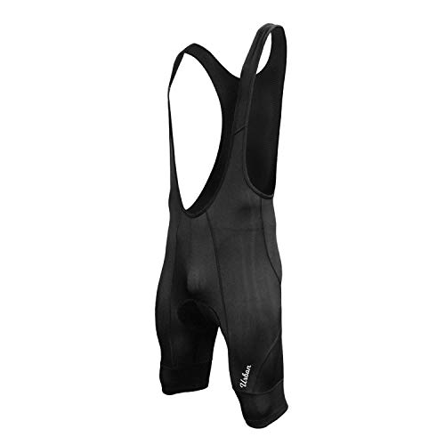 Pro Men's Cycling Bike Bib Shorts, with Two 3D Gel Pad Options (Waist 30-32