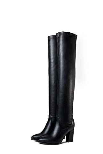 CXQ-Boots qin&X Women's Rough High Heel High Over The Knee Long Boots Shoes Black H3SxLfQNl