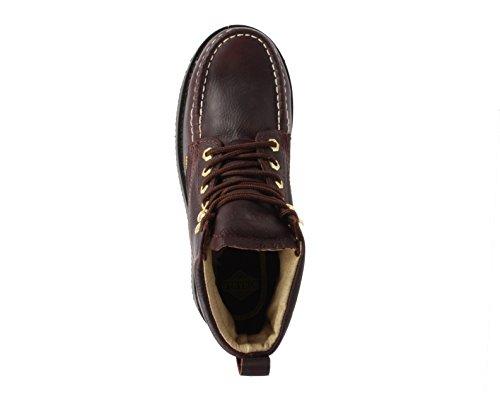 Bonanza Støvler Good Menns Seks Premium Skinn Klassisk Moc Kile Arbeid Boot Welt Konstruksjon Mørk Brun