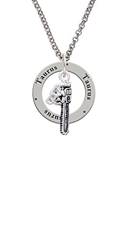 Chainsaw - Taurus Affirmation Ring Necklace