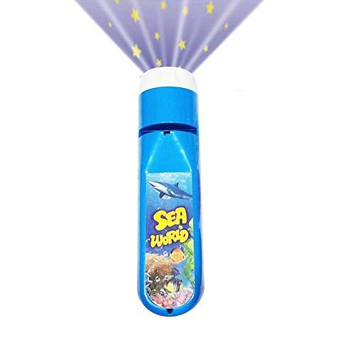 Lamptti 子供用プロジェクターライト プロジェクション懐中電灯 かわいい漫画のおもちゃ - 就寝時の学習 夜間の写真撮影 赤ちゃん 幼児用 ocean JF0046903EwBp