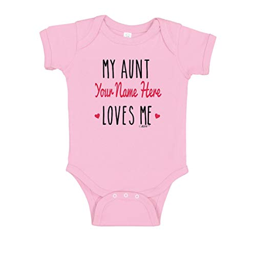 My Aunt Bodysuits Favorite Aunt My Aunt Baby Clothes Custom Name Gifts Bodysuit 6 Months Pink