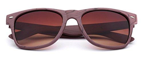 Rose Wood Print Frame Sunglasses Brown | Gradient Amber