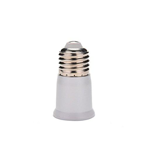 7thLake 1 Piece E27 to E27 Extension Socket Base CLF LED Light Bulb Lamp Adapter Converter