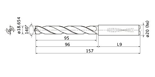 Internal Coolant 3.4 mm Point Length Mitsubishi Materials MMS1865X3D200 MMS Series Solid Carbide Drill 3 mm Hole Depth 20 mm Shank Dia. 18.654 mm Cutting Dia
